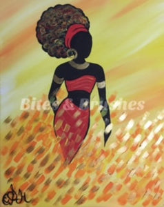 Black Art Fire From Sunlight Sip And Paint DIY Kit With Instructional Video