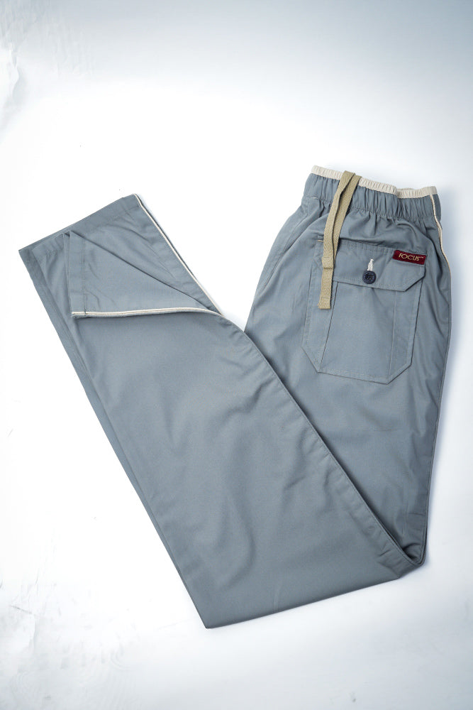 Grey Easy Wear Trouser