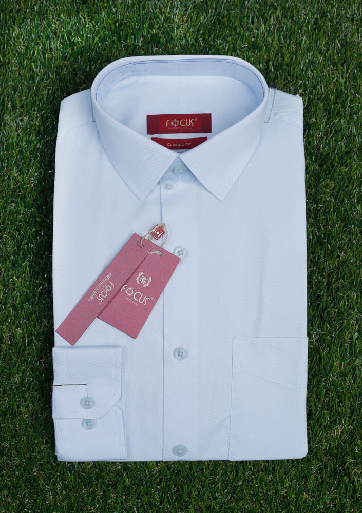 Sky Self Textured Dress Shirt