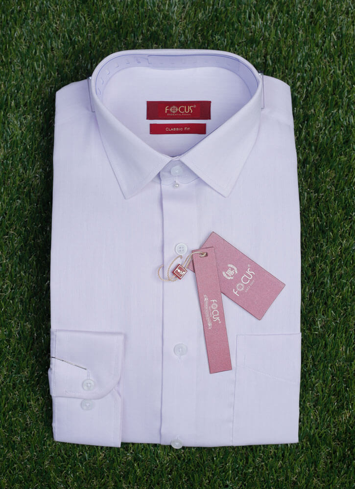 Pink Self Textured Dress Shirt