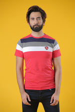 Crew Neck Yarn Dyed Jersey Red