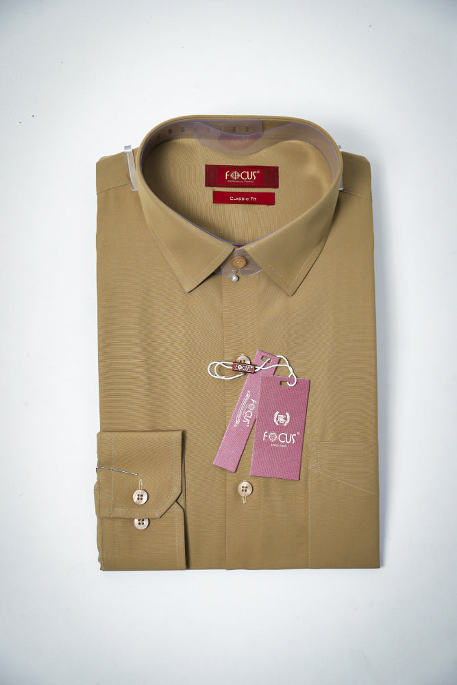 Plain Brown Dress Shirt