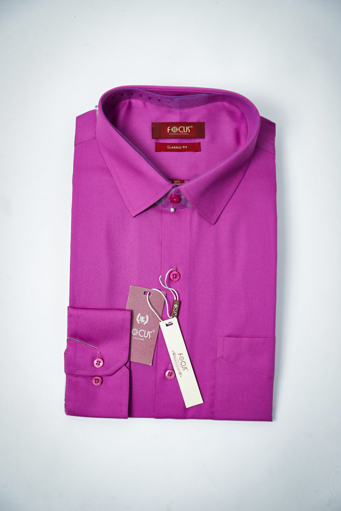 Plain Dark PInk Dress Shirt