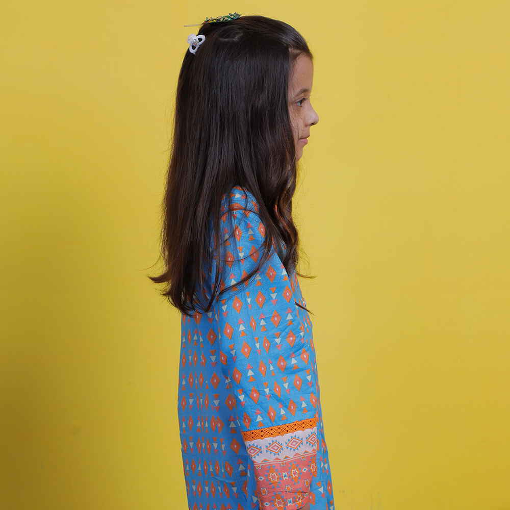 Laced Kurta - Mini Girls
