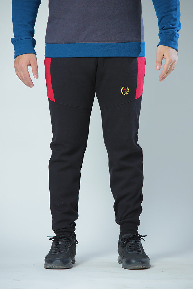 Black with Red Panel Sweat Pant