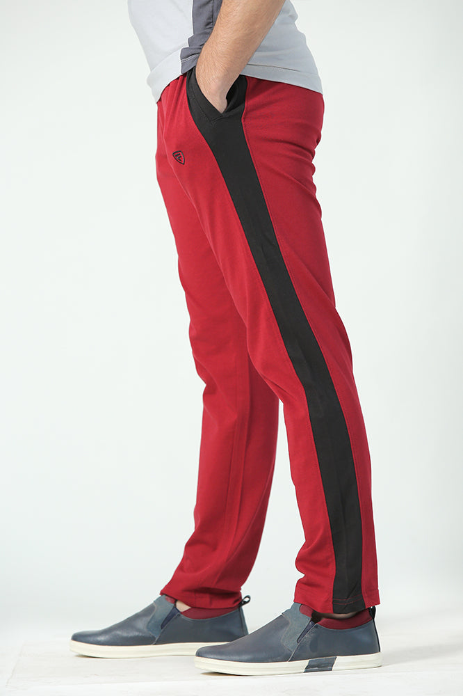 Red Jersey Trousers