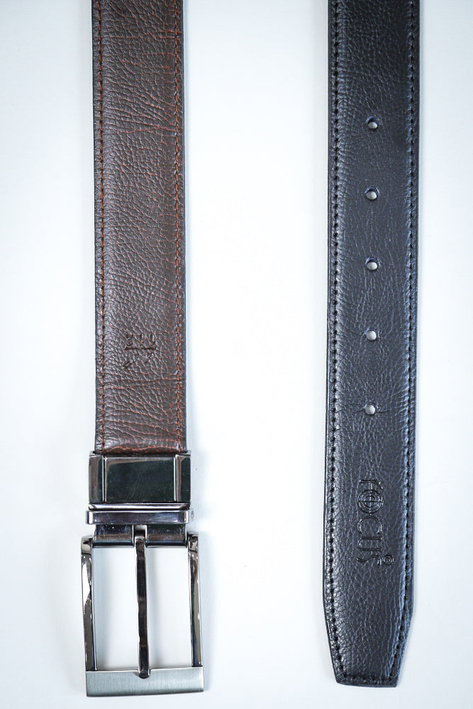 Reversible Dress Belt  leather Texture