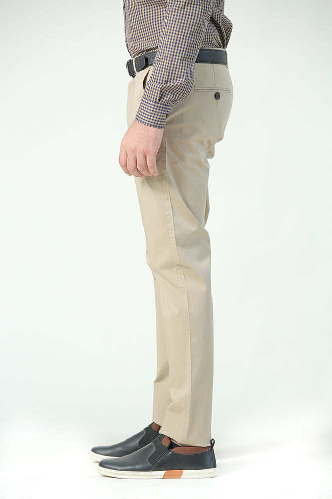 Beige Cotton Chinos