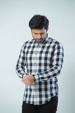 Black & White Casual Check Shirt