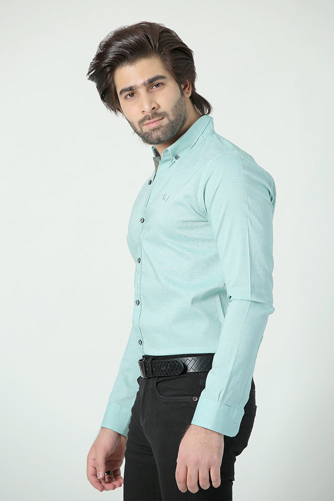 Ice Green Casual Shirt