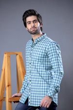 Sea Green Check Shirt