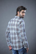 Flannel Check Shirt Ice Blue