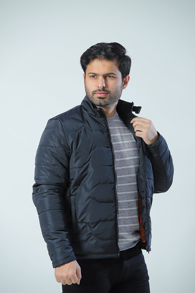 Black Diamond Quilted Puffer Jacket