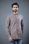 Flannel Check Shirt Brown