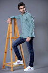 Real Green Chambray Casual Shirt