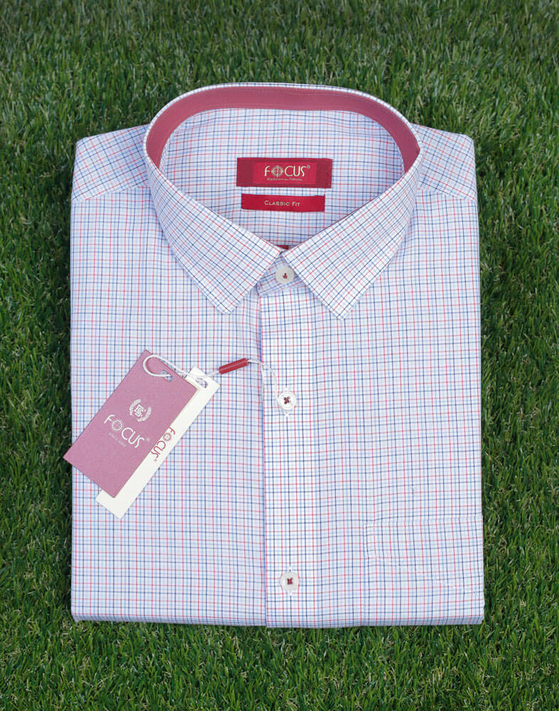 Line Check Dress Shirt