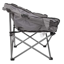 Load image into Gallery viewer, MacSports C932S-129 Padded Cushion Outdoor Folding Lounge Patio Club Chair, Gray