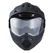 Load image into Gallery viewer, 1Storm Dual Sport Motorcycle ATV Motocross Off Road Full Face Helmet Dual Visor Matt Black, Size XL