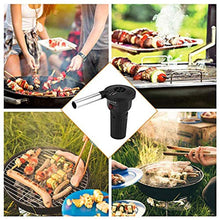 Load image into Gallery viewer, Prettyia Outdoor Cooking BBQ Fan Air Blower for Barbecue Fire Bellows Battery Powered Tool for Picnic Camping Stove Accessories