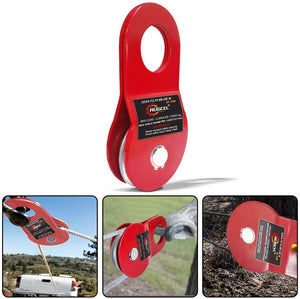 RUGCEL WINCH 4.8T Heavy Duty Recovery Winch Snatch Block,10500lb Capacity