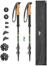 Load image into Gallery viewer, Cascade Mountain Tech Aluminum Adjustable Trekking Poles - Lightweight Quick Lock Walking Or Hiking Stick - 1 Set (2 Poles)