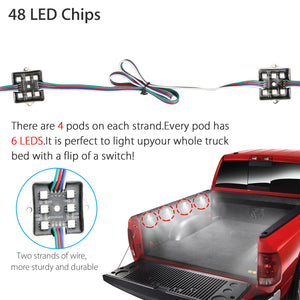 EEEkit (8-Pack) LED Rock Lights Kit , Waterproof Multi Color Truck Bed LED  Car Lighting RGB With Remote Control,  fit for Off road vehicle, ATVs, Trains, Boat, Marine, Bus