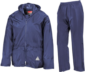 Result Mens Heavyweight Waterproof Rain Suit (Jacket & Trouser Suit)