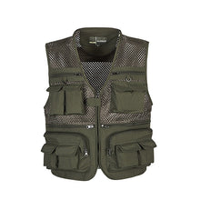 Load image into Gallery viewer, Outdoor Fishing Vests Quick Dry Breathable Multi Pocket Mesh Jackets