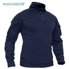 Load image into Gallery viewer, WOLFONROAD 1/4 Zip Long Sleeve Shirts Men's Hunting  Safari Tops  Men
