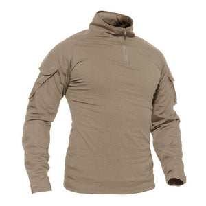 WOLFONROAD 1/4 Zip Long Sleeve Shirts Men's Hunting  Safari Tops  Men