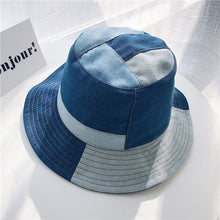 Load image into Gallery viewer, Blue Bucket Hats  Block Denim Sun Hat