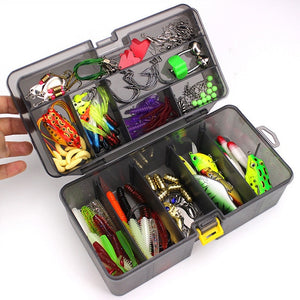 168Pcs/set Multi-function Fishing Baits Hooks Boxed Fish Lures Accessories Fishing Gear