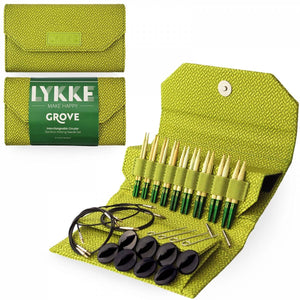 "Grove Interchangable 3.5"" Bamboo Knitting Needle Set by Lykke"