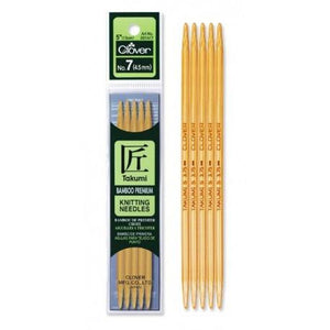 "Clover 5"" bamboo double point needles"