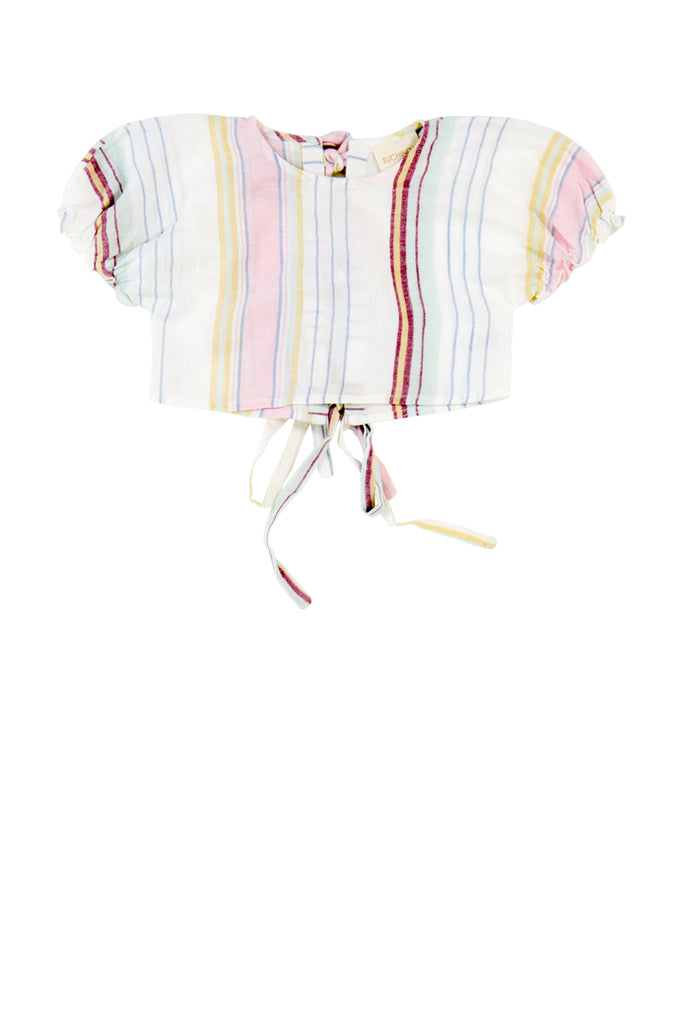 SOLEDAD TOP - PASTEL STRIPE
