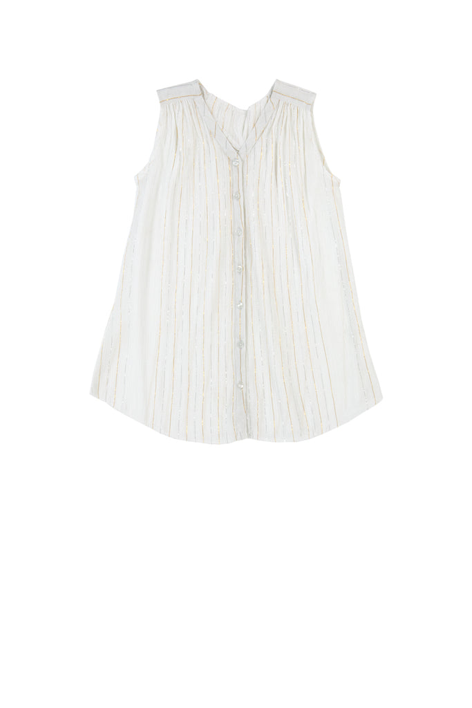 SERAFINA DRESS - STRIPE LUREX