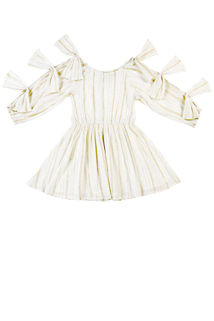 FRANCESCA DRESS - STRIPE LUREX