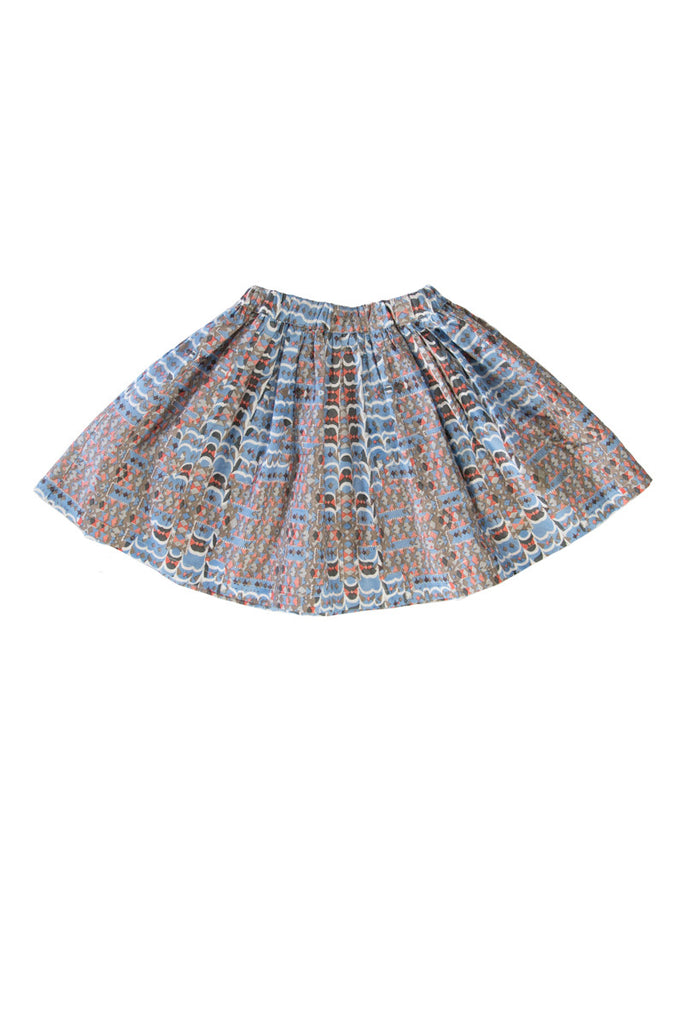 ZOEY SKIRT IN RIVER BLUE