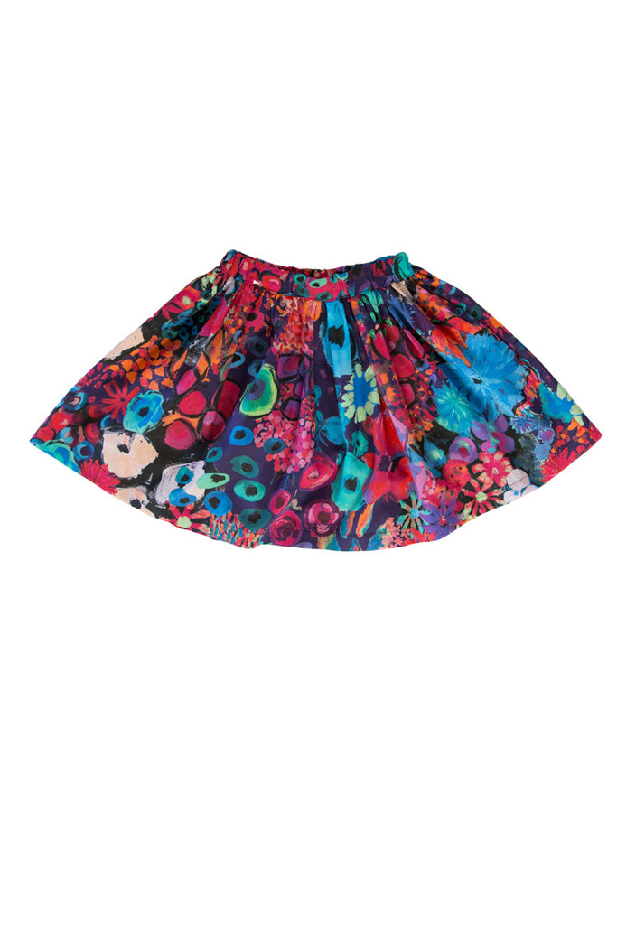 ZOEY SKIRT IN TROPICAL FLOWERS