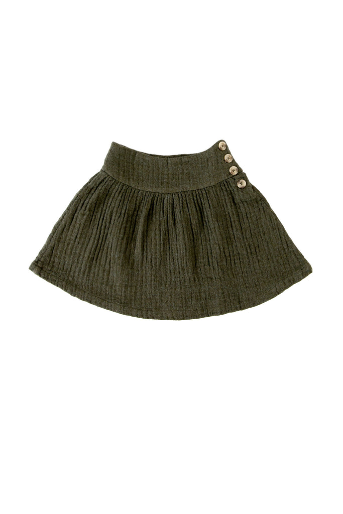 CELIA SKIRT IN OLIVE POTATO SACK