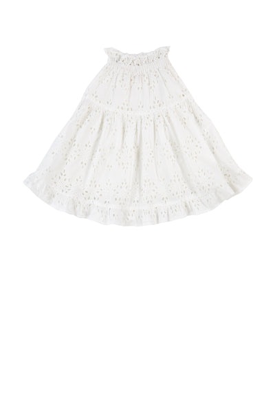 MIA SKIRT - WHITE EYELET
