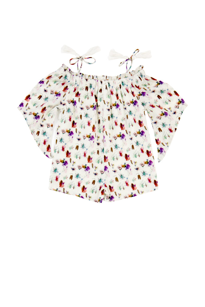 COSSETTE PLAYSUIT - FLOWER ART