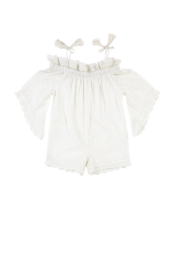 COSSETTE PLAYSUIT - SWISS DOT DOBBY