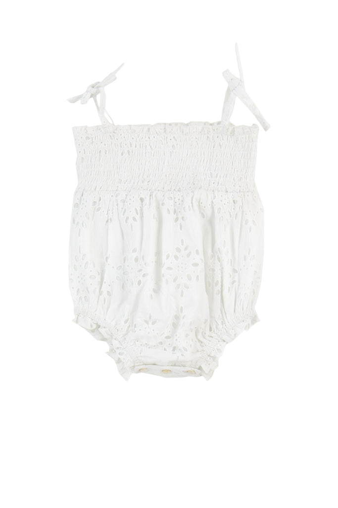 NELLI PLAYSUIT - WHITE EYELET