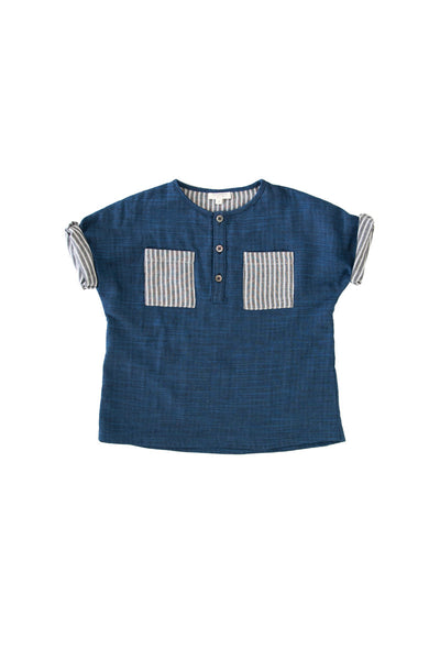 CEDRIC TUNIC IN INDIGO