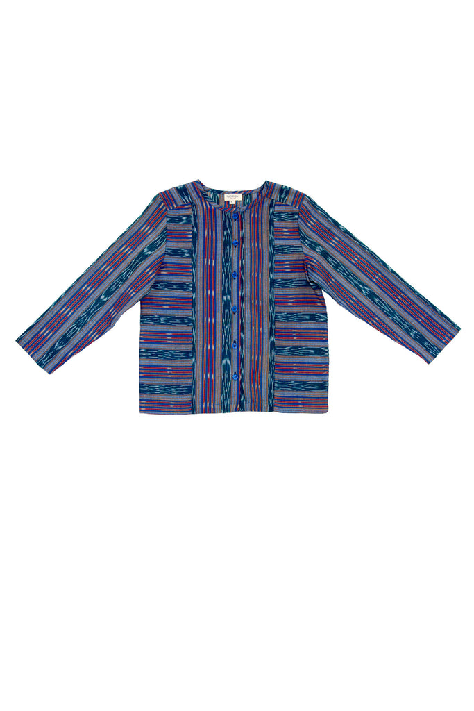 GABE TUNIC IN TEAL IKAT