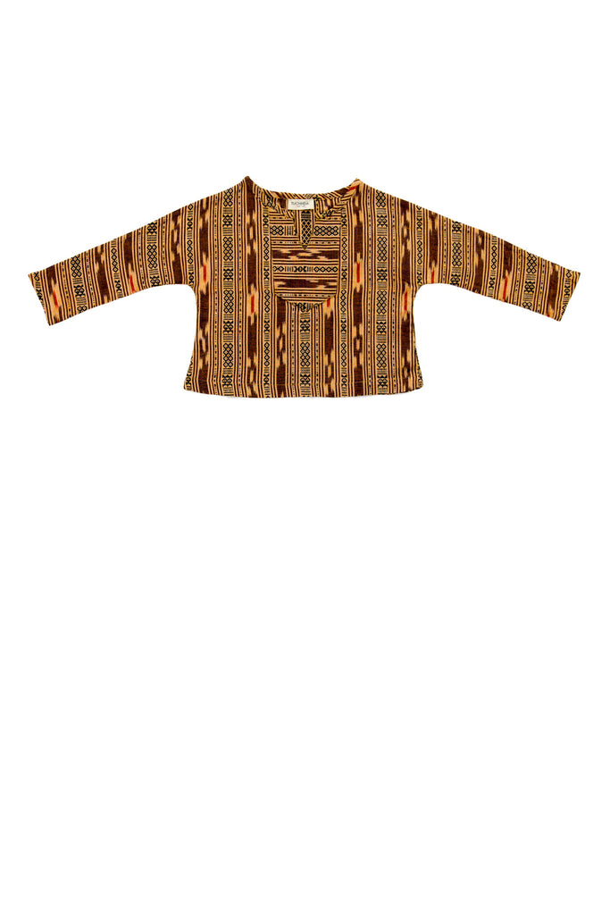 SANTIAGO SHIRT IN GOLD IKAT