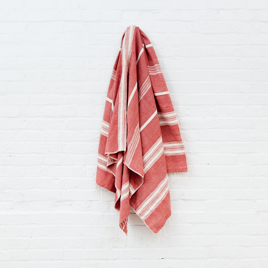 Adobe + Natural Aden Bath Towel/Beach Towel