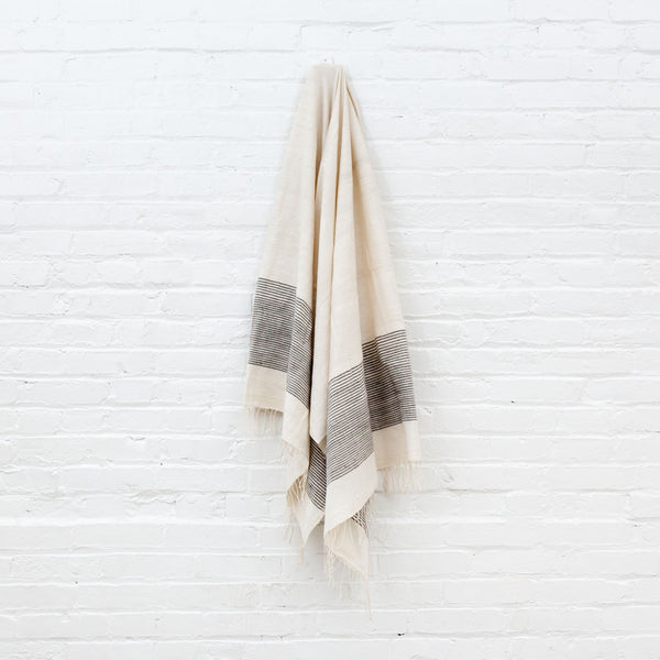 Grey Riviera Bath Towel/Beach Towel