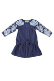 FINOLA DRESS - DARK INDIGO